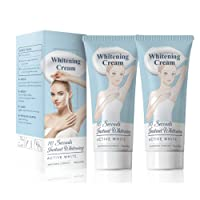 Whitening Cream Bleaching Lightening Cream For Armpit, Knees, Private Areas, Effective Brightens & Nourishes Repairs Body Skins Remove Melanin, 2 PACKs