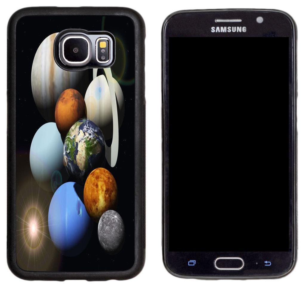Rikki Knight Solar System Planets Design Samsung Galaxy S6 Case Cover - Black