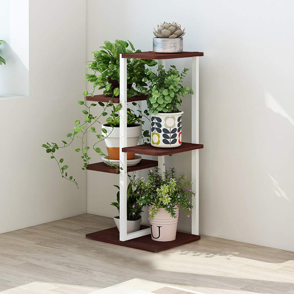 Plants Stand Rack Shelf Flower Planter Pot 5 Tier Hanging Organizer Storage Shelves Rack Flower Display Shelving Unit Holder, Home Décor Display Stand Rack/Book Shelf, 16.5×7.8×31.5 in by ASfairy