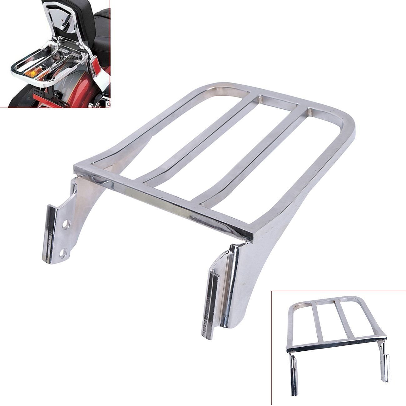 For Harley Davidson Fatboy Softail Luggage Rack Backrest Shelf Sport SISSY BAR