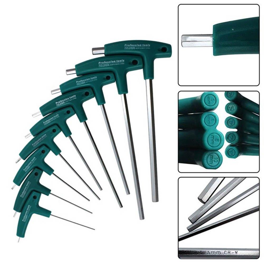 H1.5mm eamqrkt Innensechskant-Schraubendreher H1,5-10 mm 5 mm T-Griff Schraubenschl/üssel Inbusschrauben Werkzeuge
