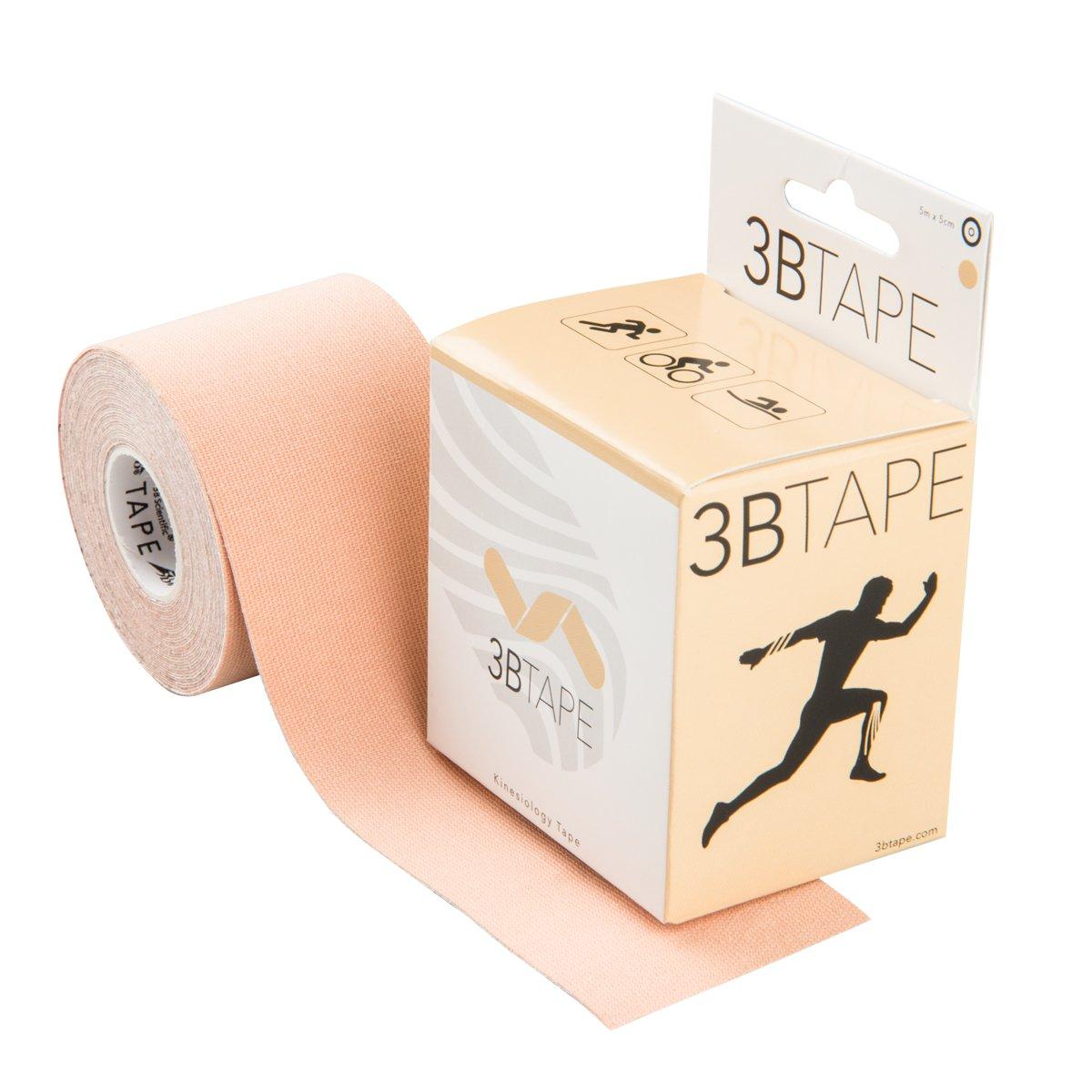 3B Scientific Beige Cotton Rayon Fiber Kinesiology Tape, 16' Length x 2'' Width