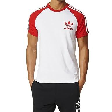 Camiseta adidas – California blanco/rojo talla: XS (X-Small)