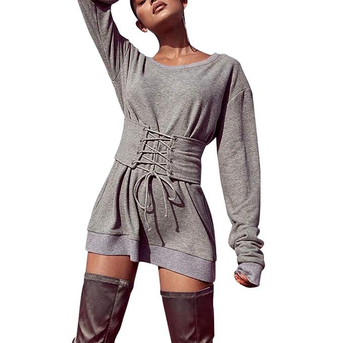 d9d0ec284857 Weant Cappuccio donna Vestito Donna Elegante Abiti Da Cerimonia Eleganti  Vestito Manica Lunga Vestito Lungo Vestito Corto Abito Sexy Donna Mini  Cocktail ...