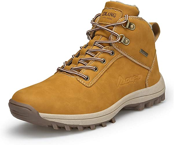 Super frist Mens Waterproof Anti-Slip Rain Boots Casual Outdoor Sport Short Ankle Slip-on Warm Shoes