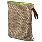Planet Wise Wet Diaper Bag, Lime Cocoa Bean, Large