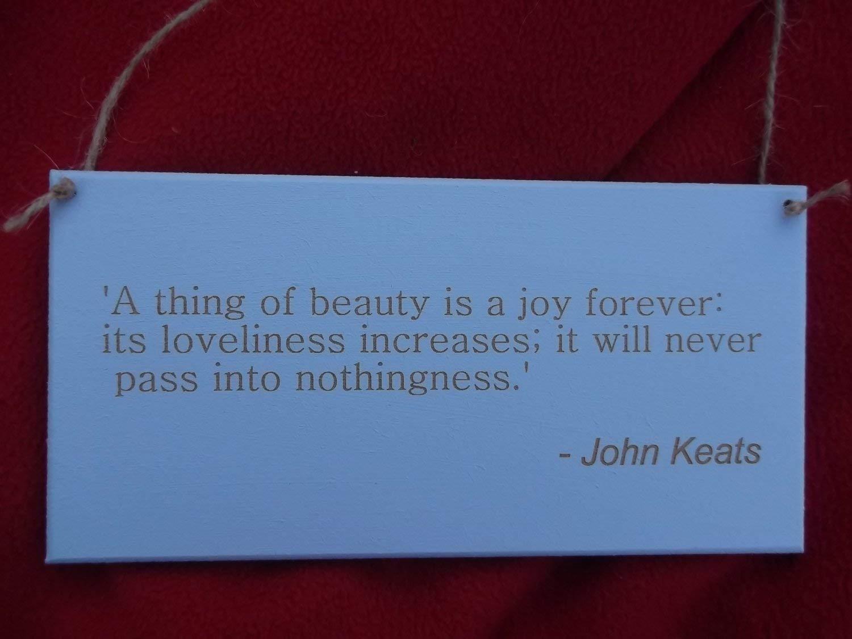 AntonioKe75 - Placa de Madera con Cita de John Keats
