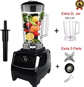 BPA free 2200W Heavy Duty Commercial Blender Professional Blender Mixer Food Processor Japan Blade Juicer Ice Smoothie Machine,black jar fullpart