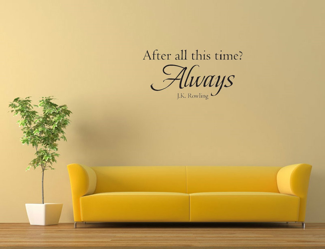 Amazon.com: After all this time? Always J.K. Rowling. Vinyl Wall ...