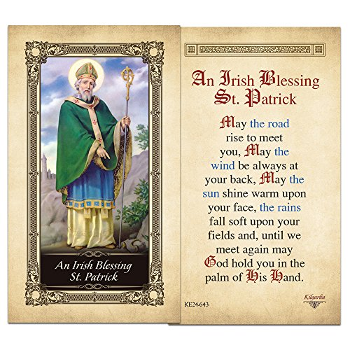 Prayer Laminated Holy Card (An Irish Blessing St. Patrick Laminated Holy Card - Pack of 25)