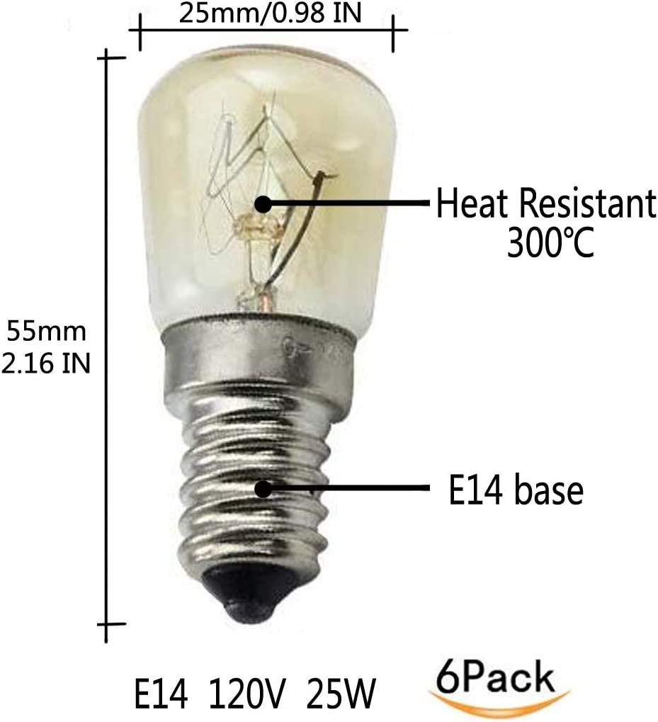 Amazon.com: ctkcom 25 W T25 E14 Base Horno bombillas de luz ...