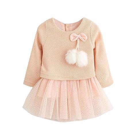9822692a1 Ropa bebé Amlaiworld Recién Bebé Niñas Manga larga Tutú princesa vestido  (6-12 Mes
