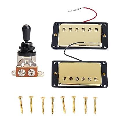 MagiDeal Hubmucker Pickup Set 3 Vías Interruptor de Palanca Para LP GIBSON Guitarra Eléctrica