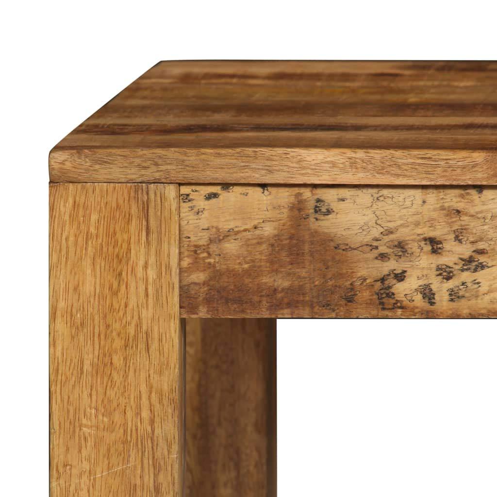 Festnight Table de Bar Table de Salle /à Manger ou Cuisine en Bois de Manguier Massif 120x60x108 cm