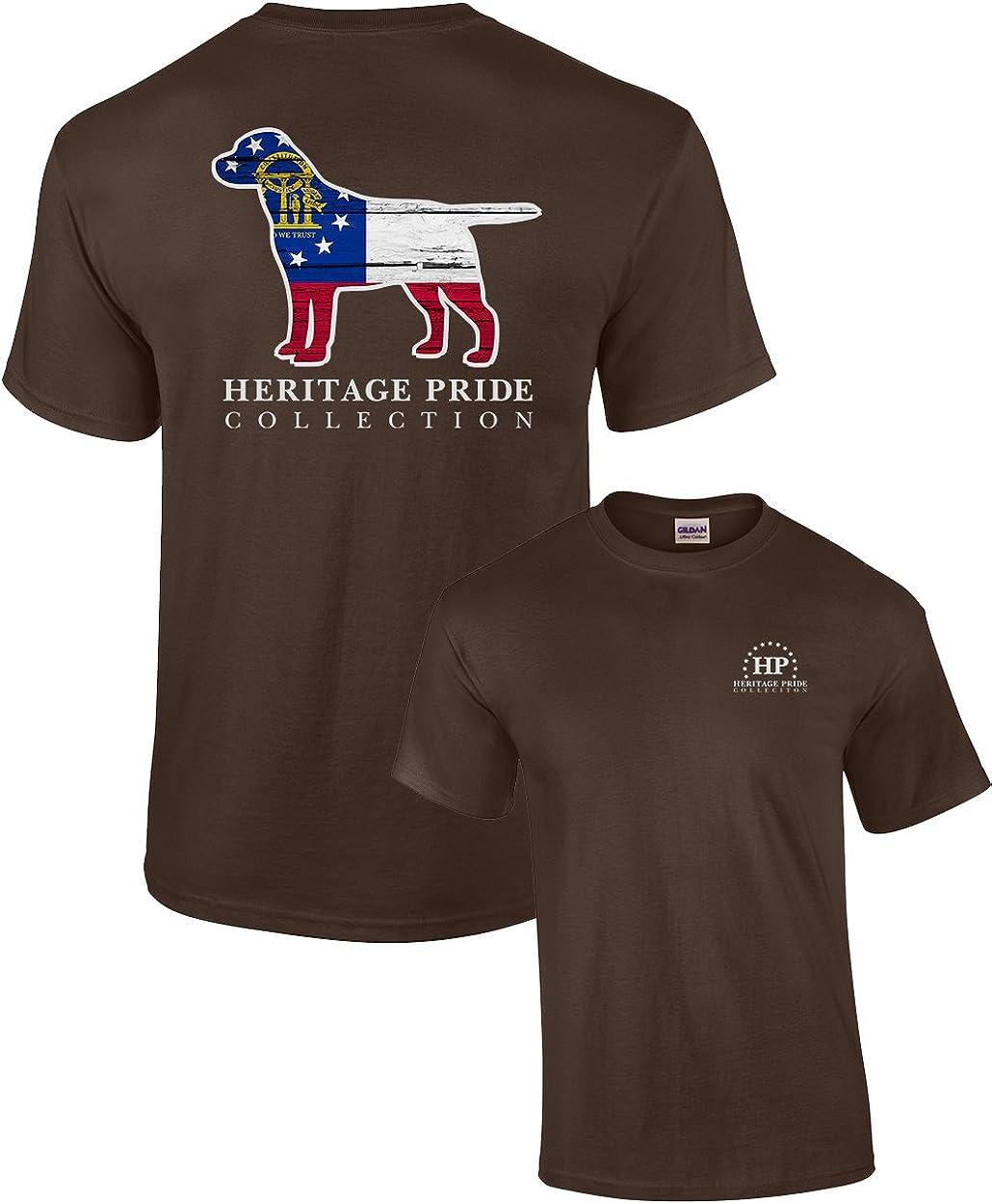 Heritage Pride Georgia Dog Patriotic Adult Tee Shirt Black