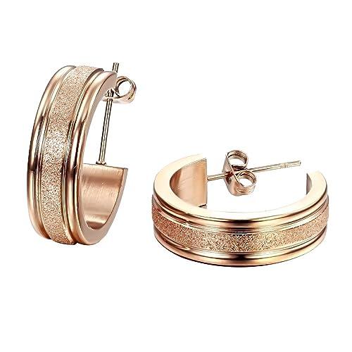 Amazon.com: OPK joyería Fashion – Pendientes para mujer Rose ...