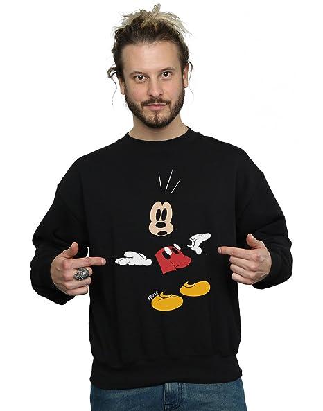 Disney hombre Mickey Mouse Surprised Camisa De Entrenamiento: Amazon.es: Ropa y accesorios