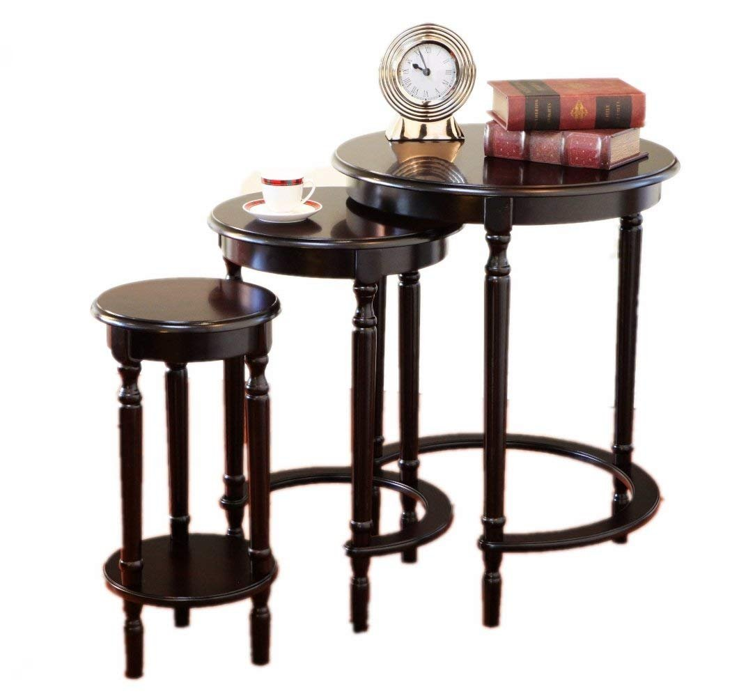 Amazing Buys 3 Piece Set Nesting Tables in A Cherry Finish by Amazing Buys