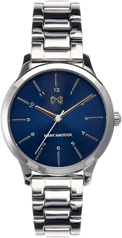 Mark Maddox Reloj Analogico para Mujer de Cuarzo con Correa en Acero Inoxidable MM7100-37