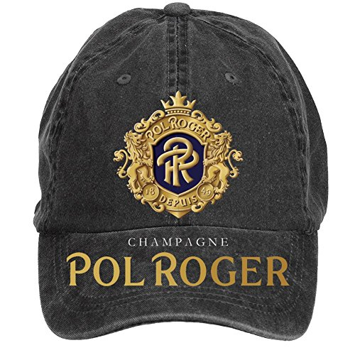 nusajj-champagne-pol-roger-adult-unstructured-100-cotton-sports-hats-design-black-one-size