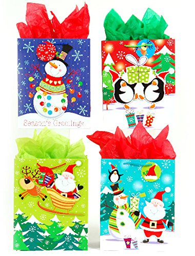 DDI 2127459 Classic Tall Christmas World Matte Gift Bag Case of 144
