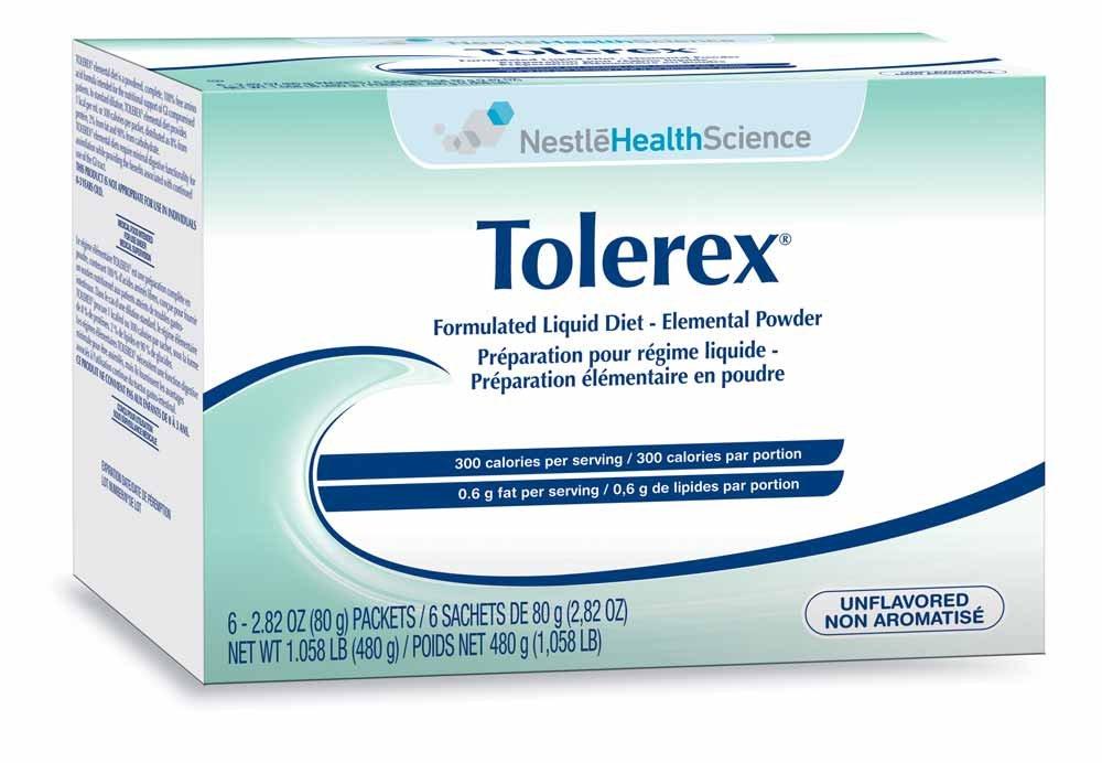 Tolerex Formulated Liquid Diet Elemental Powder, Unflavored, Box of 60 Packets by Tolerex