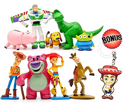 Awe Inspiring Amazon Com Toy Story Cake Toppers Cartoon Action Figures Pack Personalised Birthday Cards Arneslily Jamesorg