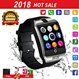 Bluetooth Smart Watch Touchscreen with Camera,Unlocked Watch Cell Phone with Sim Card Slot,Smart Wrist Watch,Waterproof Smartwatch Phone for Android Samsung IOS Iphone 7 6S Men Women Kids