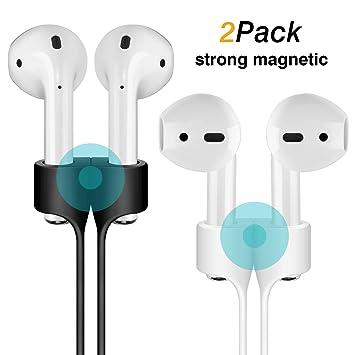 ... Compatible con Apple Airpods Sport Cordaje Protector de Silicona para Auriculares inalámbricos Apple Airpods (Blanco + Negro): Amazon.es: Electrónica