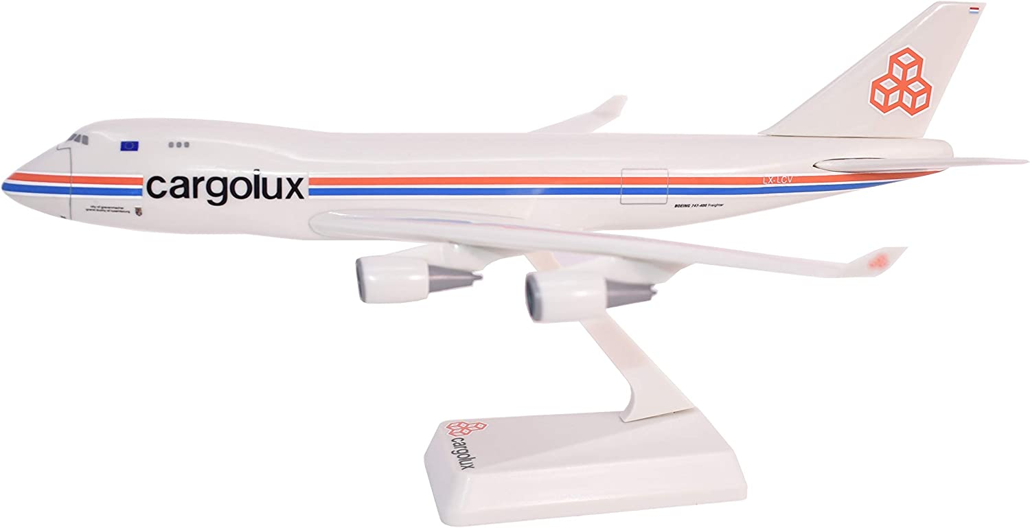 Flight Miniatures Cargolux Airlines Boeing 747-400 1:250 Scale Display Model with Stand