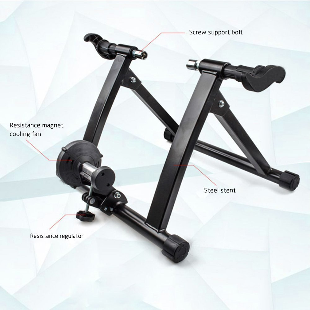 Karmas Product Exercise Resistance Bicycle Trainer Bike Magnetic Stand with Noise Reduction Wheel by Karmas Product (Image #4)
