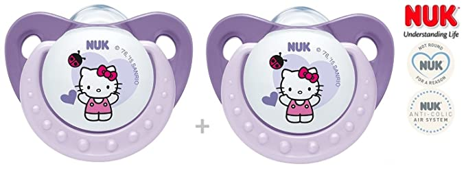 NUK chupete Hello Kitty nº 10.729.578 - 2 x Chupete ...