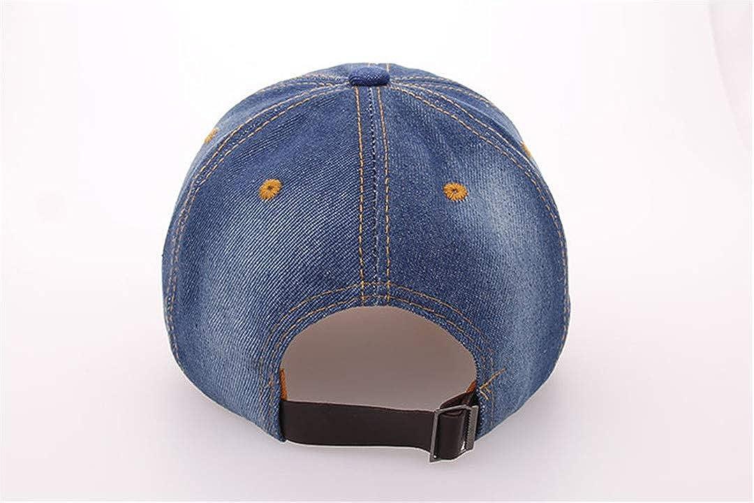 BAIELFES Hat Cap Leisure Rhinestones Crown Jean Cotton Caps Unisex Baseball Cap B072