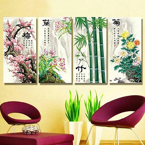 (Cross stitch, plum blossom, orchid, bamboo, chrysanthemum, Chinese style, P0022)