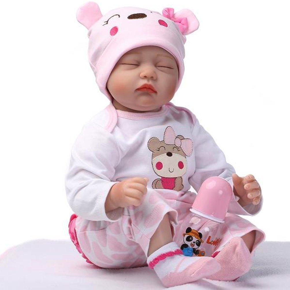 NPK 22 Inch Renacer de la Muñeca de Silicona Suave Simulación de Vinilo DE 55 cm Magnética Boca Realista Juguete Lindo de la Reborn Baby Doll
