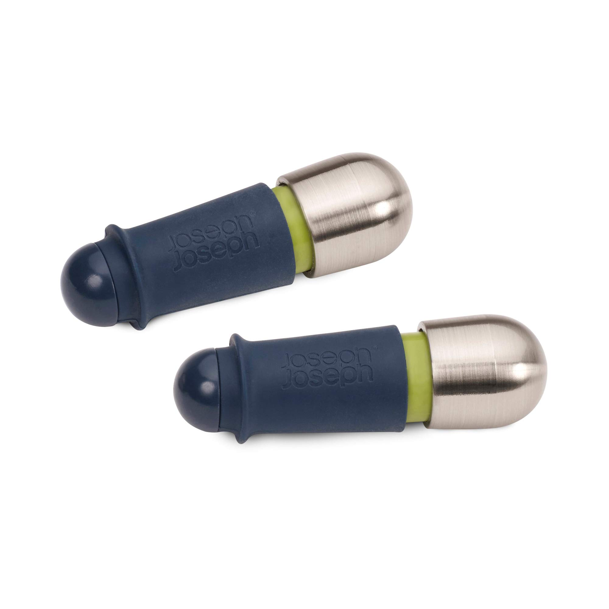 Joseph Joseph BarWise Twist-Lock Wine Stoppers, 2-Piece, Blue