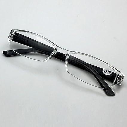 Zantec Unisex Gafas de lectura o para vista cansada plegables Portable  Sleek Design Rimless Magnifying PC 7e287e9060dc