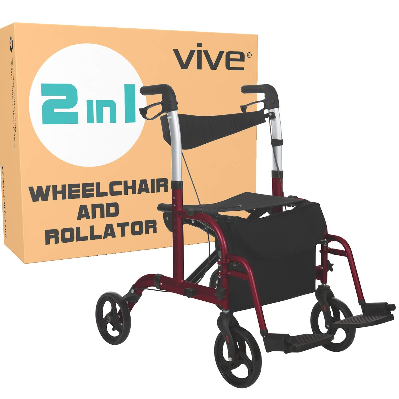 Amazon.com: Rodillo para silla de ruedas, MOB1018RED: Health ...