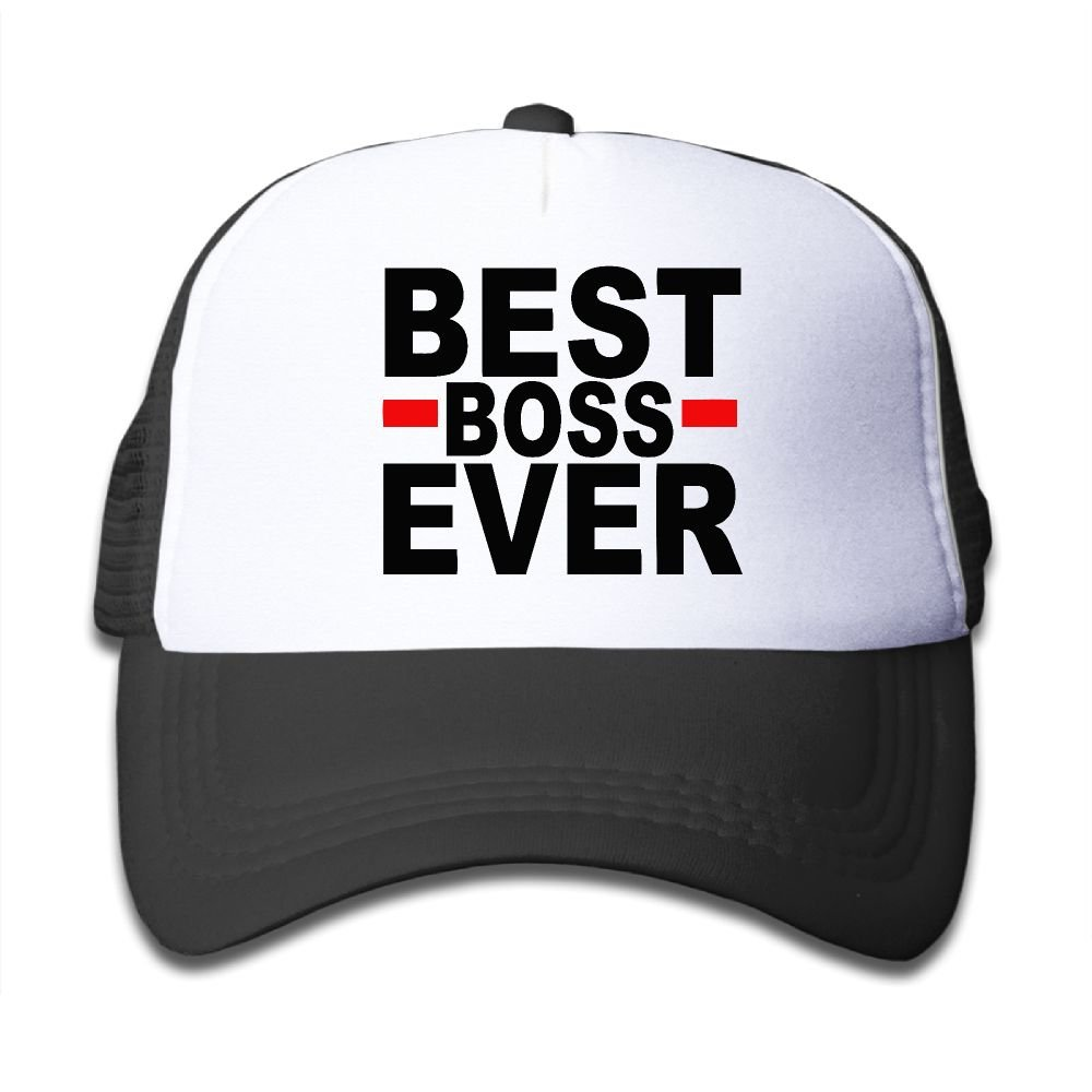 Amazon.com  Best Boss Ever Toddler Cool Baseball Caps For Kids Snapback Cap  Hat  Clothing 0f9f829b6d2