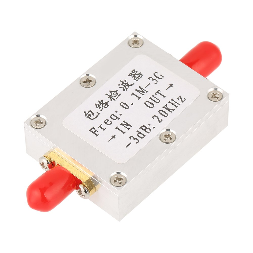 1Pc High Frequency RF Envelope Detector Amplitude Detection Module Board 0.1M-3GHz SMA RF Amplifie Detector Module