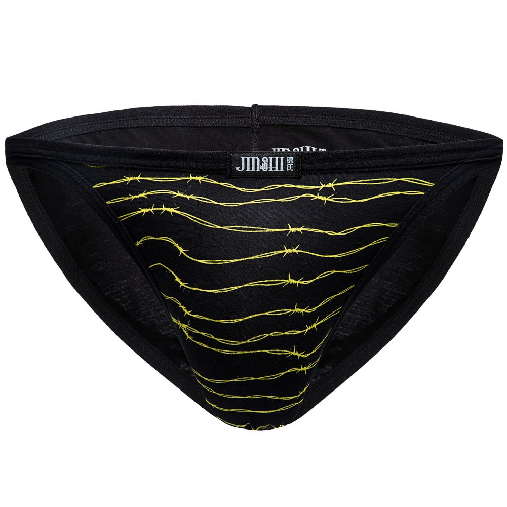 87edaa7d8ee8 JINSHI Mens Sexy Bikini Underwear Printed Panty Brief [1541766776 ...