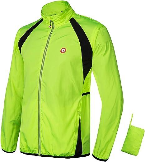 CYCLING JACKET HIGHLY VISIBLE HI VIZ WINDPROOF WATERPROOF BREATHABLE RIDING CYC