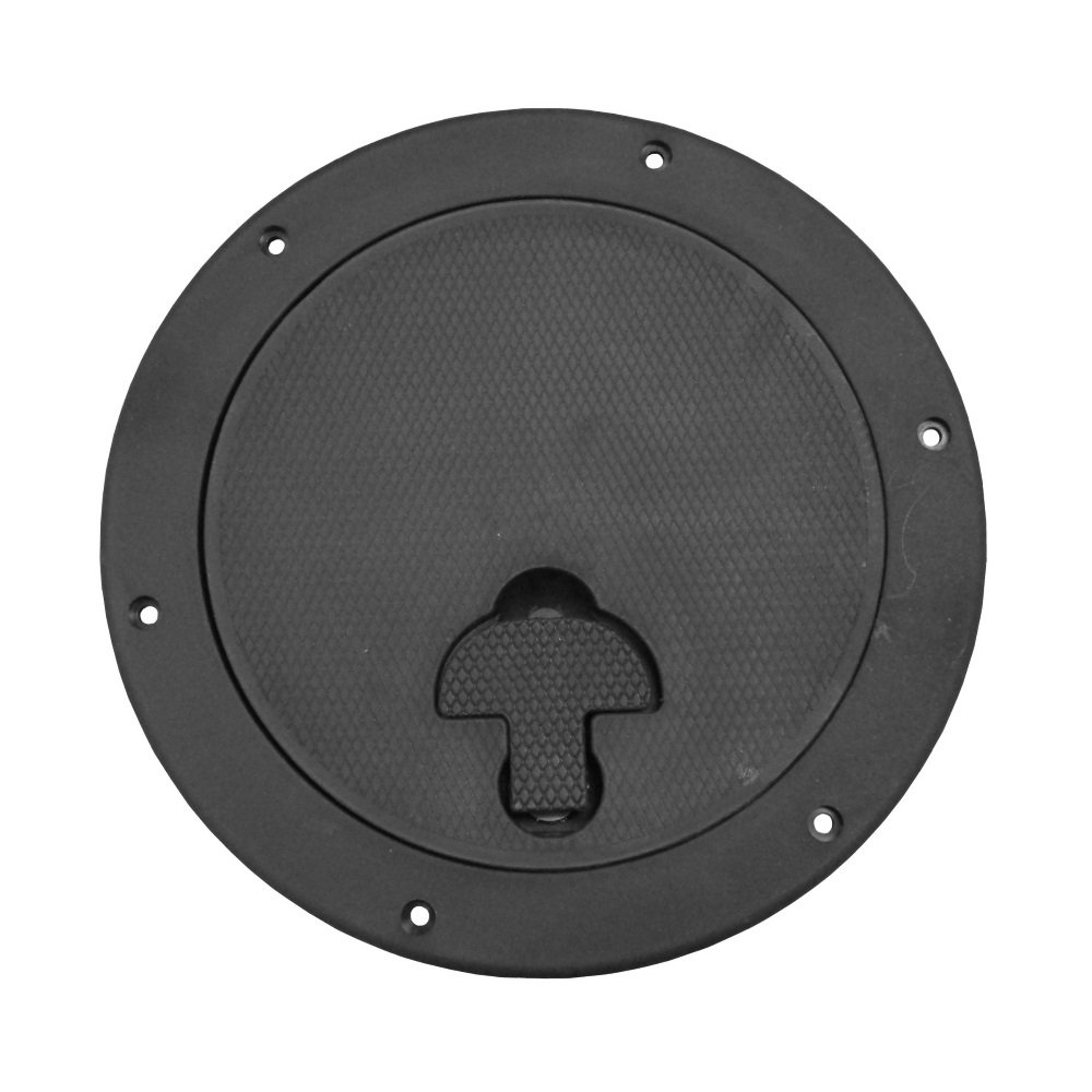 Bomar Deck Plate with T-Handle, Black, 10'' by Bomar