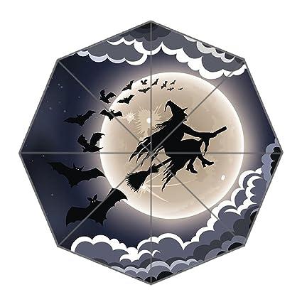 Paraguas impermeable y plegable, 110 cm de ancho x 65 cm de alto, 8