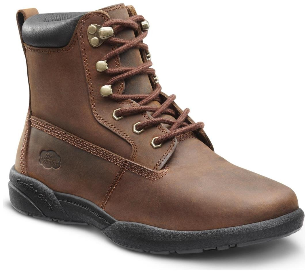 Dr. Comfort Boss Men's Therapeutic Diabetic Extra Depth Boot: Chestnut 13.0 X-Wide (3E/4E) Lace