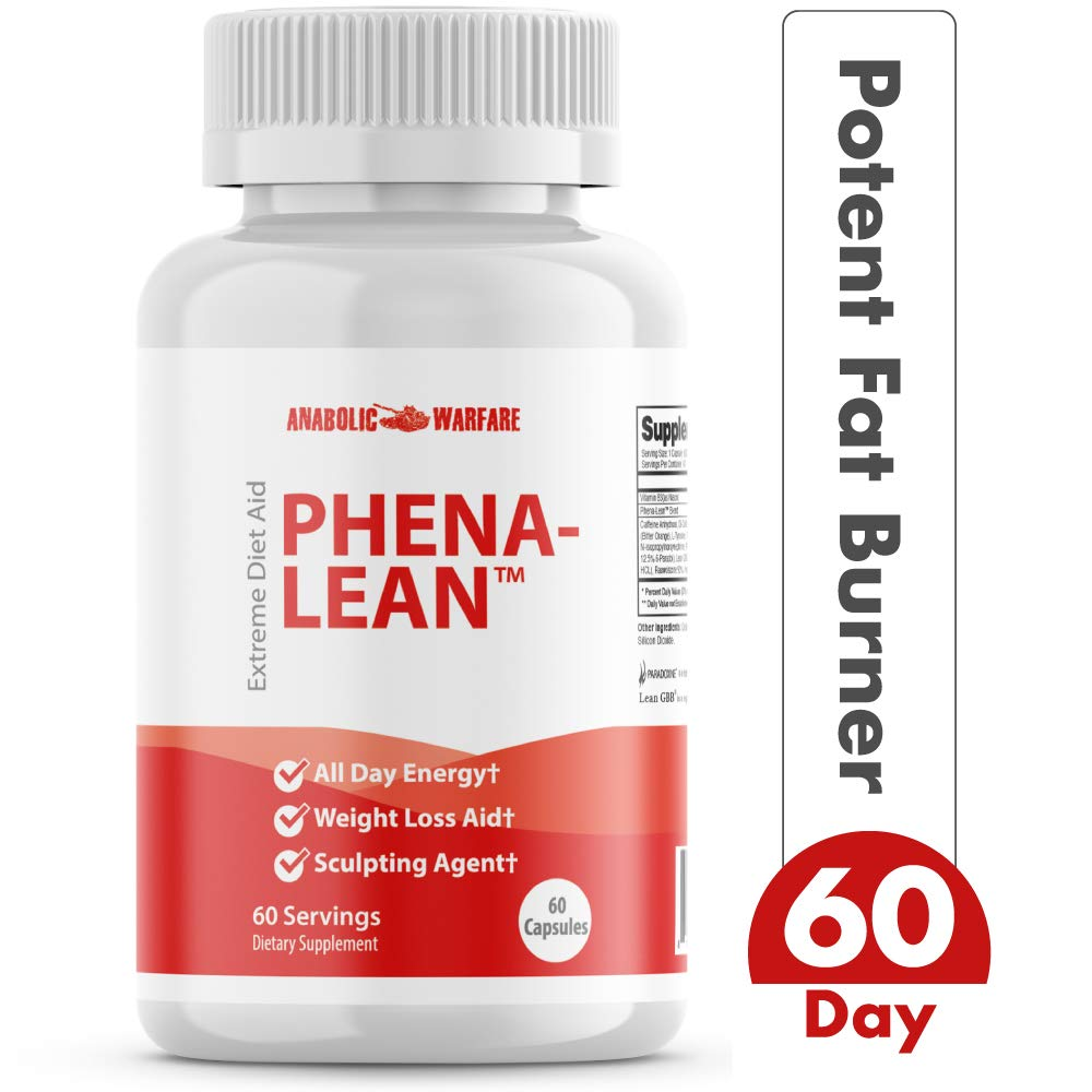 Phena-Lean Premier Fat Burner Supplement from Anabolic Warfare - Thermogenic Diet Pill to Boost Metabolism and Promote Weight Loss* by Anabolic Warfare