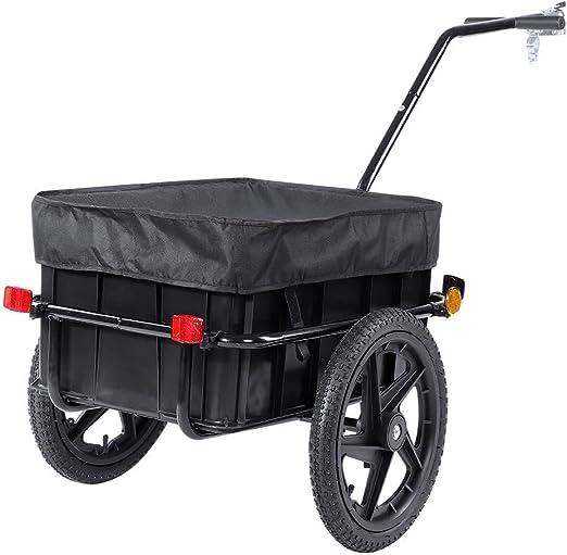 Biglove Carro de la Bici, Carro de Carga Negro Remolque de la ...