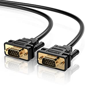 UGREEN VGA SVGA HD15 Male to Male Video Coaxial Monitor Cable with Ferrite Cores Gold Plated Connectors Support 1080P Full HD for Projectors, HDTVs, Displays and More VGA Enabled Devices