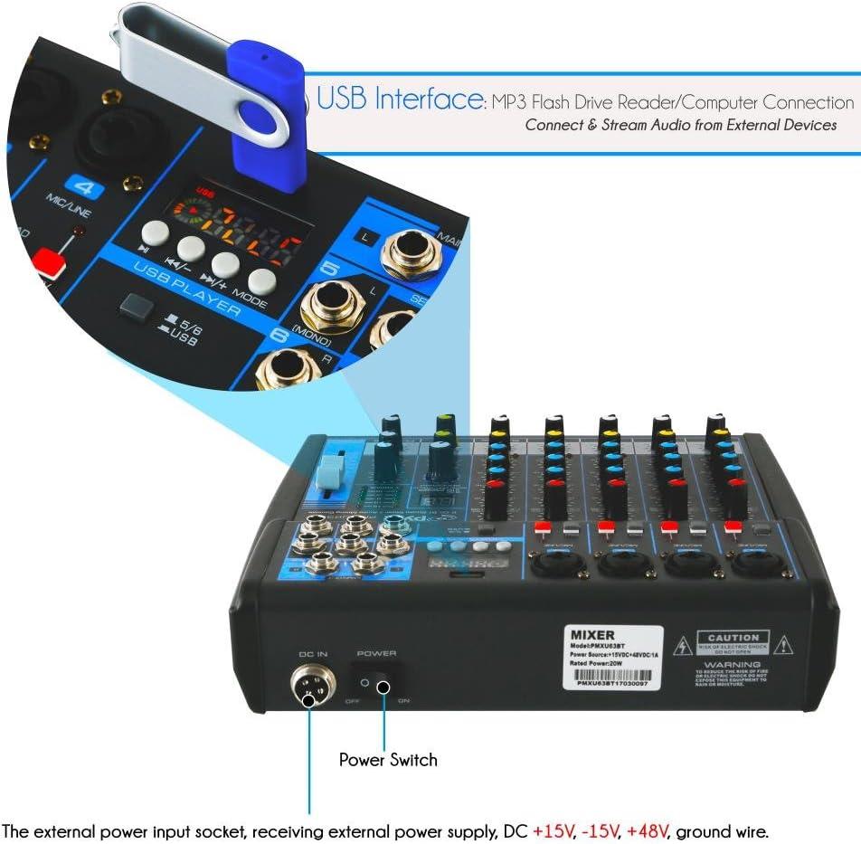 Pyle profesional mezclador de audio sonido Junta Consola ...