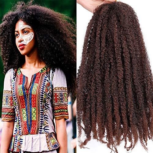 Pack of 3 Ombre Marley Braids Hair Kanekalon Synthetic Twist Crochet Braiding Hair Afro Kinky Hair Havana Braids 18 Inch (1B-30#)
